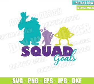 Sulley Boo Mike Squad Goals (SVG dxf png) Monster Inc Squadgoals Cut File Cricut Silhouette Vector Clipart - Don Vito Design Store