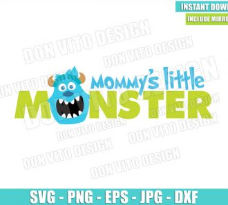 Sulley Mommy's Little Monster (SVG dxf png) Monster Inc Head Face Cut File Cricut Silhouette Vector Clipart - Don Vito Design Store