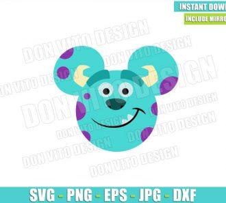 Sulley Mickey Mouse Ears (SVG dxf png) Sullivan Monster Inc Cut File Cricut Silhouette Vector Clipart - Don Vito Design Store