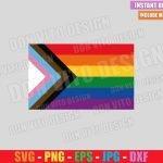 LGBTQ Progress Pride Flag (SVG dxf png) New Gay Rainbow Flags Cut File Cricut Silhouette Vector Clipart T-Shirt Design Pride svg