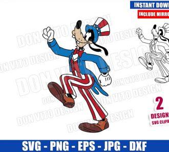 Disney Goofy Patriotic Costume (SVG dxf png) USA America Hat Cut File Cricut Silhouette Vector Clipart - Don Vito Design Store