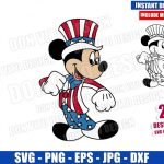 Mickey Mouse Patriotic Costume (SVG dxf png) USA America Hat Cut File Cricut Silhouette Vector Clipart Design Disney 4th of July svg