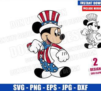 Mickey Mouse Patriotic Costume (SVG dxf png) USA America Hat Cut File Cricut Silhouette Vector Clipart - Don Vito Design Store