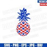 USA Pineapple Mickey Head (SVG dxf png) United States Fruit Ears Cut File Cricut Silhouette Vector Clipart Design Disney 4th of July svg