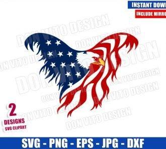 Eagle USA Flag (SVG dxf png) United States Freedom America Patriotic Cut File Cricut Silhouette Vector Clipart - Don Vito Design Store