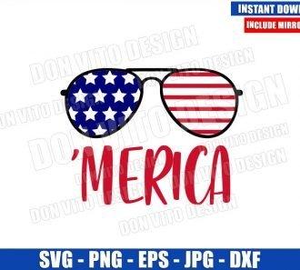 Merica Sunglasses Flag (SVG dxf png) Patriotic America United States Cut File Cricut Silhouette Vector Clipart - Don Vito Design Store