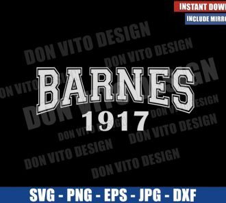 Barnes 1917 (SVG dxf png) Marvel Winter Soldier Name Cut File Cricut Silhouette Vector Clipart - Don Vito Design Store