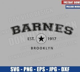 Barnes Est 1917 Brooklyn (SVG dxf png) Winter Soldier Logo Cut File Cricut Silhouette Vector Clipart - Don Vito Design Store