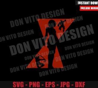 Black Widow Avengers Silhouette (SVG dxf png) Hulk Hawkeye Logo Cut File Cricut Vector Clipart - Don Vito Design Store