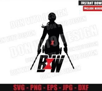 BW Logo Natasha Romanoff (SVG dxf png) Black Widow Movie Cut File Cricut Silhouette Vector Clipart - Don Vito Design Store