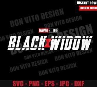 Black Widow Movie Logo (SVG dxf png) Marvel Superhero Symbol Cut File Cricut Silhouette Vector Clipart - Don Vito Design Store