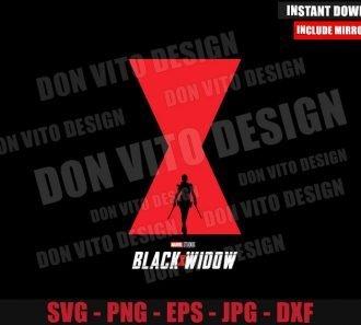 Black Widow Movie Poster (SVG dxf png) Superhero Logo Cut File Cricut Silhouette Vector Clipart - Don Vito Design Store