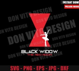 The Red Room Ballet Silhouette (SVG dxf png) Black Widow Movie Logo Cut File Cricut Vector Clipart - Don Vito Design Store