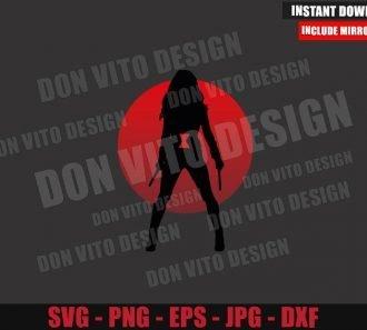 Black Widow Silhouette Emblem (SVG dxf png) Natasha Romanoff Movie Cut File Cricut Silhouette Vector Clipart - Don Vito Design Store