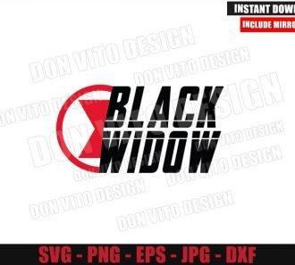 Black Widow Superhero Logo (SVG dxf png) Avengers Movie Cut File Cricut Silhouette Vector Clipart - Don Vito Design Store