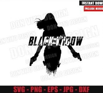 Black Widow Silhouette Logo (SVG dxf png) Superhero Movie Symbol Cut File Cricut Vector Clipart - Don Vito Design Store