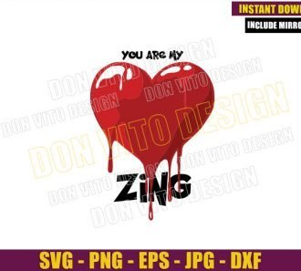 Bloody Red Heart Zing (SVG dxf png) Hotel Transylvania Love Cut File Cricut Silhouette Vector Clipart - Don Vito Design Store