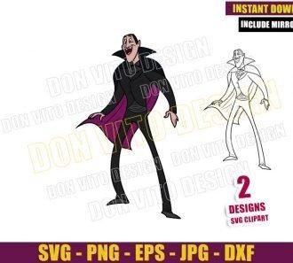 Hotel Transylvania Dracula (SVG dxf png) Vampire Monster Cut File Cricut Silhouette Vector Clipart - Don Vito Design Store
