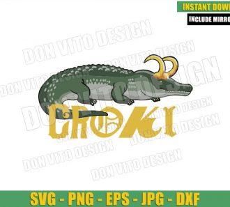 Croki Loki Logo (SVG dxf png) Alligator Loki Gator Variant Cut File Cricut Silhouette Vector Clipart - Don Vito Design Store