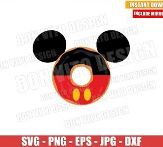 Mickey Mouse Donut Ears (SVG dxf png) Disney Food Head Cut File Cricut Silhouette Vector Clipart - Don Vito Design Store