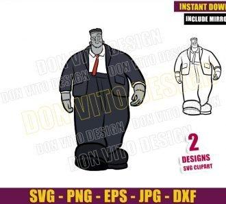 Frankenstein Frank (SVG dxf png) Monster Outline Cut File Cricut Silhouette Vector Clipart - Don Vito Design Store