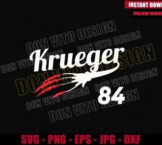 Krueger 84 Glove (SVG dxf png) Freddy Krueger Nightmare on Elm St Cut File Cricut Silhouette Vector Clipart - Don Vito Design Store