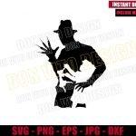 Freddy Krueger Little Girl (SVG dxf png) Nightmare on Elm Street Cut File Cricut Silhouette Vector Clipart Design Classic Movie svg