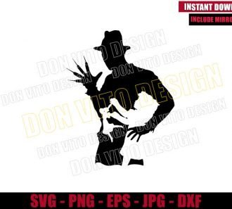 Freddy Krueger Little Girl (SVG dxf png) Nightmare on Elm Street Cut File Cricut Silhouette Vector Clipart - Don Vito Design Store