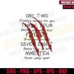 Freddy Krueger Poem (SVG dxf png) Nightmare on Elm Street Song Cut File Cricut Silhouette Vector Clipart Design Horror Movie svg