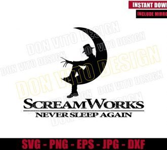 ScreamWorks Never Sleep Again (SVG dxf png) Freddy Krueger Cut File Cricut Silhouette Vector Clipart - Don Vito Design Store