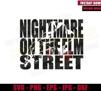 Nightmare On Elm Street (SVG dxf png) Freddy Krueger Cut File Cricut Silhouette Vector Clipart - Don Vito Design Store