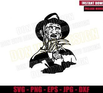 Freddy Krueger (SVG dxf png) Nightmare on Elm Street Cut File Cricut Silhouette Vector Clipart - Don Vito Design Store