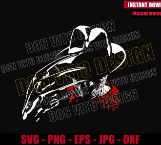 Freddy Krueger Hat Glove (SVG dxf png) Nightmare on Elm St Cut File Cricut Silhouette Vector Clipart - Don Vito Design Store