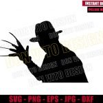 Freddy Krueger with Glove (SVG dxf png) Nightmare on Elm Street Cut File Cricut Silhouette Vector Clipart T-Shirt Design Horror Movie svg
