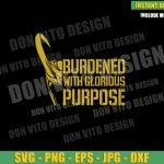 Helmet Burdened with Glorious Purpose (SVG dxf png) Loki Tv Series Horn Cut File Cricut Silhouette Vector Clipart Design Marvel svg