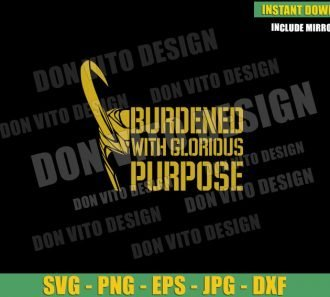 Helmet Burdened with Glorious Purpose (SVG dxf png) Loki Tv Series Horn Cut File Cricut Silhouette Vector Clipart - Don Vito Design Store