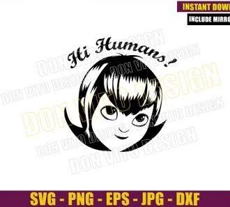 Hi Humans Mavis Head (SVG dxf png) Dracula Daughter Cut File Cricut Silhouette Vector Clipart - Don Vito Design Store