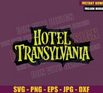 Hotel Transylvania Logo (SVG dxf png) Count Dracula Movie Cut File Cricut Silhouette Vector Clipart - Don Vito Design Store