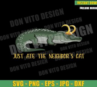Just Ate The Neighbor's Cat (SVG dxf png) Loki Alligator Variant Cut File Cricut Silhouette Vector Clipart - Don Vito Design Store