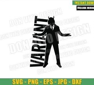 President Loki Variant Silhouette (SVG dxf png) Loki Tv Show Logo Cut File Cricut Vector Clipart - Don Vito Design Store