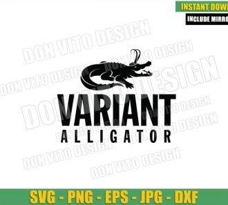 Loki Variant Alligator (SVG dxf png) Crocodile Loki Logo Cut File Cricut Silhouette Vector Clipart