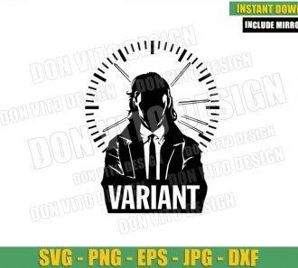 Loki Variant Poster Clock (SVG dxf png) Loki Tv Show Logo Cut File Cricut Silhouette Vector Clipart - Don Vito Design Store