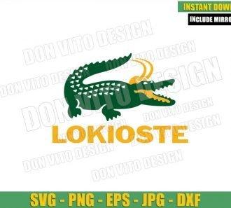 Lokioste Logo (SVG dxf png) Loki Alligator Variant Lacoste Cut File Cricut Silhouette Vector Clipart - Don Vito Design Store