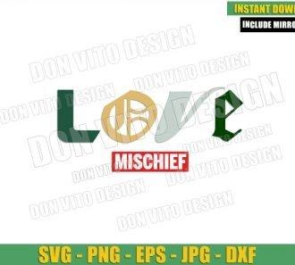 Love Mischief Loki Logo (SVG dxf png) Sylvie Loki Letters Cut File Cricut Silhouette Vector Clipart - Don Vito Design Store