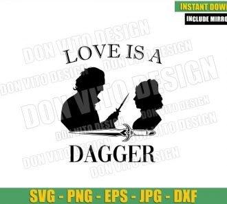 Love Loki Sylvie Silhouette (SVG dxf png) Love is a Dagger Weapon Logo Cut File Cricut Vector Clipart - Don Vito Design Store