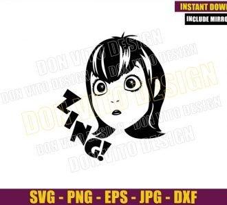 Mavis Zing (SVG dxf png) Dracula Daughter Head Cut File Cricut Silhouette Vector Clipart - Don Vito Design Store