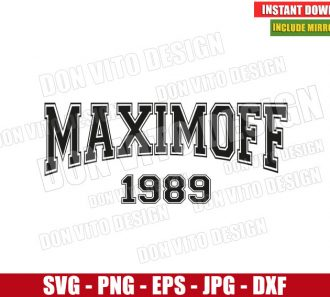 Maximoff 1989 (SVG dxf png) Marvel Scarlet Witch Name Cut File Cricut Silhouette Vector Clipart - Don Vito Design Store