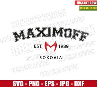 Maximoff Est 1989 Sokovia (SVG dxf png) Scarlet Witch Logo Cut File Cricut Silhouette Vector Clipart - Don Vito Design Store