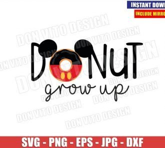 Mickey Donut Grow up (SVG dxf png) Disney Ears Food Snack Cut File Cricut Silhouette Vector Clipart - Don Vito Design Store