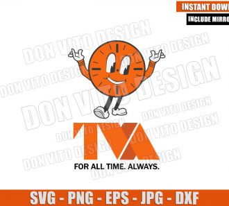 Miss Minutes TVA Logo (SVG dxf png) Loki Tv Show For All Time Always Cut File Cricut Silhouette Vector Clipart - Don Vito Design Store